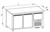 masa de refrigerare pentru bauturi G 020