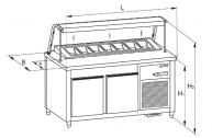 masa de refrigerare pentru pizza G 030